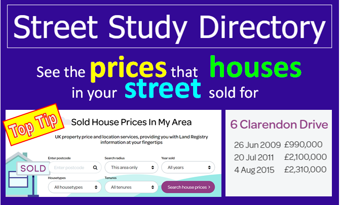 Sold house prices